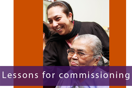 Lessons for commissioning
