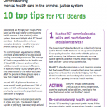 Commissioning mental health care in the criminal justice system: 10 top tips