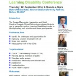 Learning Disability Conference led by the Greater Manchester, Lancashire and South Cumbria SCN