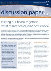 Putting our heads together: what makes senior joint posts work?