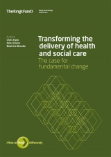 Transforming the delivery of health and social care