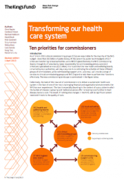 Transforming our health care system: Ten priorities for commissioners